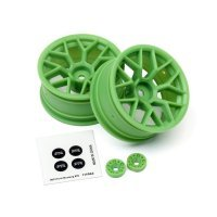 "HPI 1.9"" (6mm Off-Set) Mesh Green Rims 2Pcs"