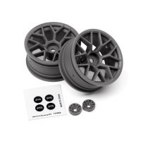 "HPI 1.9"" (6mm Off-Set) Mesh Black Rims 2Pcs"