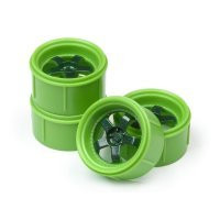 "HPI 1.2"" Micro RS4 Work Meister S1 Green Rims 2Pcs"