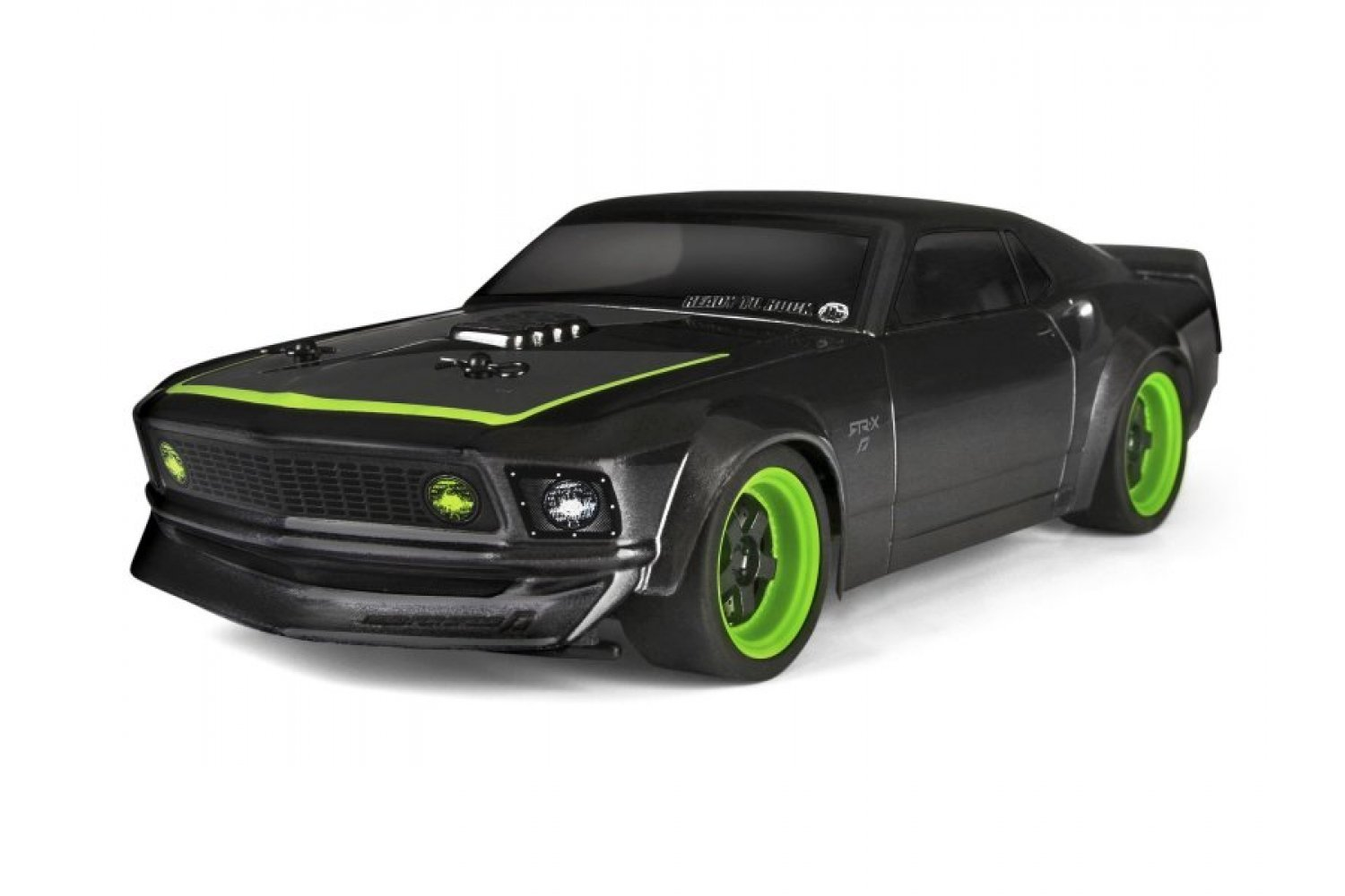 113081 hpi micro rs4 1 18 1969 ford mustang rtr x painted body shell