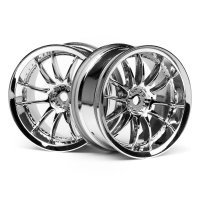 "HPI 1.9"" (3mm Off-Set) Work XSA 02C Chrome Rims 2Pcs"