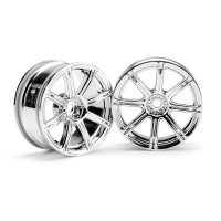 "HPI 1.9"" (3mm Off-Set) Work Emotion XC8 Chrome Rims 2Pcs"