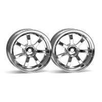 "HPI 1.9"" (3mm Off-Set) Rays Gram Lights 57S-Pro Chrome Rims 2Pcs"
