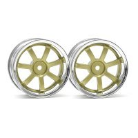 "HPI 1.9"" (3mm Off-Set) Rays Gram Lights 57S-Pro Chrome/Gold Rims 2Pcs"