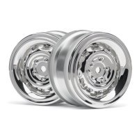 "HPI 1.9"" (0mm Off-Set) Vintage CC Type Chrome Rims 2Pcs"