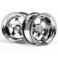 "HPI 1.9"" (3mm Off-Set) Work Meister S1 Chrome Rims 2Pcs"