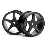 "HPI 1.9"" (1mm Off-Set) Super Star Black Rims 2Pcs"