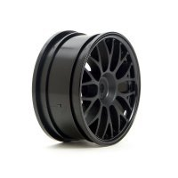 "HPI 1.9"" (1mm Off-Set) Mesh Black Rims 2Pcs"