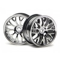 "HPI 1.9"" (1mm Off-Set) Mesh Chrome Rims 2Pcs"