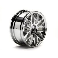 "HPI 1.9"" (3mm Off-Set) Mesh Chrome Rims 2Pcs"