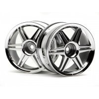 "HPI 1.9"" (3mm Off-Set) 12 Spoke Corsa Chrome Rims 2Pcs"