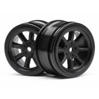 "HPI 1.9"" (0mm Off-Set) Vintage 8 Spoke Black Rims 2Pcs"