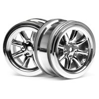"HPI 1.9"" (0mm Off-Set) Vintage 8 Spoke Chrome Rims 2Pcs"