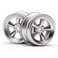 "HPI 1.9"" (0mm Off-Set) Vintage 5 Spoke Matte Chrome Rims 2Pcs"