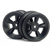 "HPI 1.9"" (0mm Off-Set) Vintage 5 Spoke Black Rims 2Pcs"