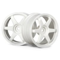 "HPI 1.9"" (0mm Off-Set) TE37 White Rims 2Pcs"