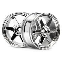"HPI 1.9"" (0mm Off-Set) TE37 Chrome Rims 2Pcs"