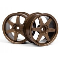 "HPI 1.9"" (0mm Off-Set) TE37 Bronze Rims 2Pcs"
