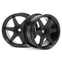 "HPI 1.9"" (3mm Off-Set) TE37 Black Rims 2Pcs"