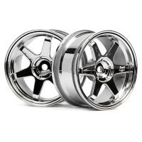 "HPI 1.9"" (3mm Off-Set) TE37 Chrome Rims 2Pcs"