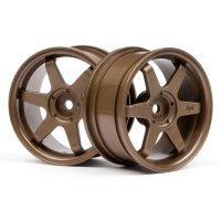 "HPI 1.9"" (3mm Off-Set) TE37 Bronze Rims 2Pcs"