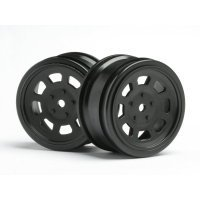 "HPI 1.9"" (0mm Off-Set) Vintage Stock Black Rims 2Pcs"