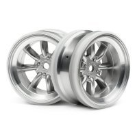 "HPI 1.9"" (6mm Off-Set) MX60 Matte Chrome Rims 2Pcs"