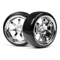 "HPI 1.9"" T-Drift Tyres on Chrome Rays 57S-Pro Rims - Wheels 2pcs"