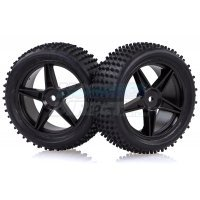 "HSP 2.3"" Front Buggy Tyres on Black Rims - Wheels 2Pcs"