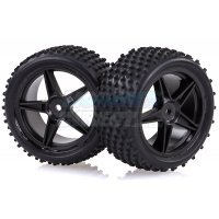 "HSP 2.3"" Rear Buggy Tyres on Black Rims - Wheels 2Pcs"