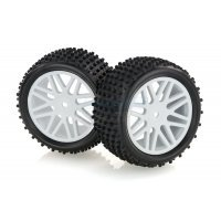 "HSP 2.3"" Rear Buggy Tyres on White Rims - Wheels 2Pcs"