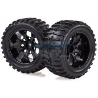 "HSP 2.8"" Off-Road Tyres on Black Rims - Wheels 2Pcs"