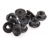 HSP 4mm Flanged Serrated Wheel Nuts 10Pcs