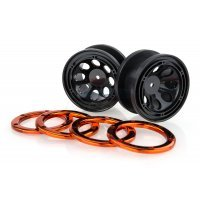 "HSP 2.2"" Black/Orange Beadlock Rims 2Pcs"