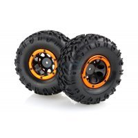 "HSP 2.2"" Soft Off-Road Tyres on Black Rims - Beadlocked Wheels 2Pcs"