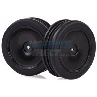 "HSP 2.3"" Mongoose Front Ribbed Tyres on Black Dish Rims - Wheels 2Pcs"