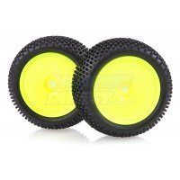"HSP 2.3"" Mongoose Rear Knobby Tyres on Yellow Dish Rims - Wheels 2Pcs"