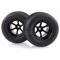 "HSP 2.2"" Viper Front Ribbed Tyres on Black 6 Spoke Rims - Wheels 2Pcs"