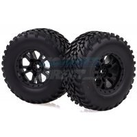 "HSP 2.2/3.0"" Storm Off-Road Tyres on Black Rims - Glued Wheels 2Pcs"