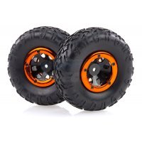 "HSP 1.9"" Kulak Soft Off-Road Tyres on Black Rims - Beadlocked Wheels 2Pcs"