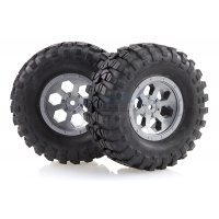 "HSP 1.9"" RC4 Soft Off-Road Tyres on Grey Rims - Wheels 2Pcs"