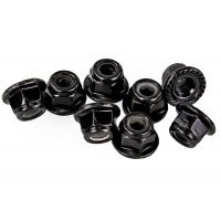 HSP 4mm Flanged Serrated Nyloc Wheel Nuts 8Pcs