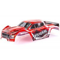 HSP 1/10 Wolverine BL Truck Painted Red Body Shell