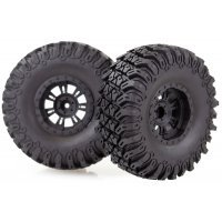 "HSP 2.2"" Soft Off-Road Tyres on Black Rims - Glued Wheels 2Pcs"