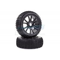 "HSP 2.8"" Knobby Tyres on Black Rims - Wheels 2Pcs"