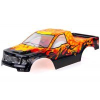 HSP 1/10 Lion Truck Painted Orange Body Shell