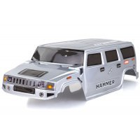 HSP 1/10 RC4 Hummer Truck Painted Silver Body Shell
