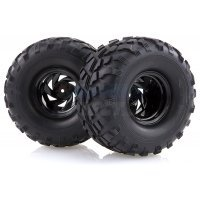 "HSP 2.2"" Crusher Off-Road Tyres on Black Rims - Wheels 2Pcs"