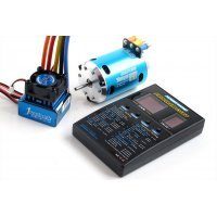 Hobbywing XeRun Justock Club Spec Blue 21.5T 1600Kv Sensored Brushless 45A Combo