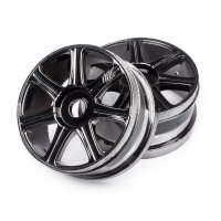 "HB 3.3"" Edge Black Chrome Rims 2Pcs"